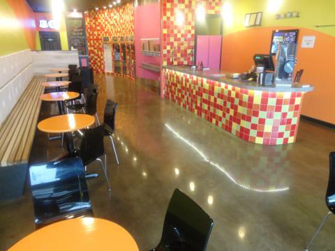 Polished Concrete Floor at a restaurant